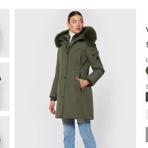 1 MADISON VERA Fox Fur Trimmed Hooded Parka
